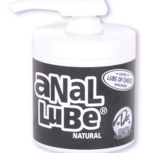 Anal Lube Natural Pump Jar - 6oz