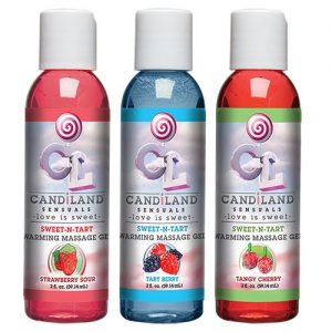 CANDiLAND SENSUALS - Sweet-N-Tart Warming Massage Gels 3-pack-0
