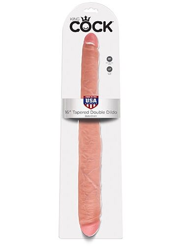 "King Cock - 16"" Tapered Double Flesh-6598"