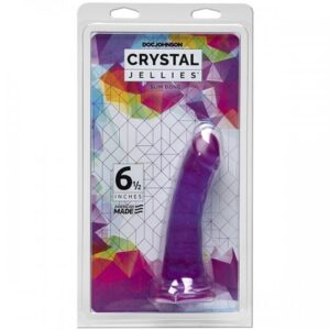 CRYSTAL JELLIES - SLIM DONG - 6.5 INCH PURPLE