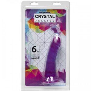 CRYSTAL JELLIES - SLIM DONG - 6.5 INCH PURPLE
