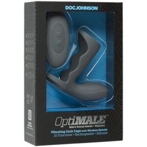 OptiMALE Vibrating Rechargeable Cock Cage